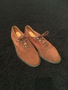 Suede Dark Brown Dress Shoes Made In UK Man Made Lining And Sole Leather Lining