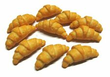10 Croissant  Bakery  Dollhouse Miniatures Food Supply Deco