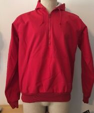 Windless Vintage Nylon Jacket Pullover Men's Hooded Red Size Medium M NOS NWT