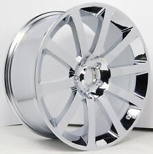 SET(4) New 20X9 5X115 Chrysler 300 SRT8 Chrome Wheels Rims 5x115 +26mm Fit 05-17