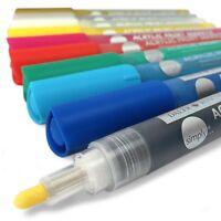 Daler Rowney - Einfach Acryl Lack Stifte - 2mm - Sortiert Packung 10