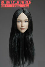 """1/6 Asian Female Head Sculpt C For 12"""" Hot Toys PHICEN Verycool Figure ☆USA☆"""