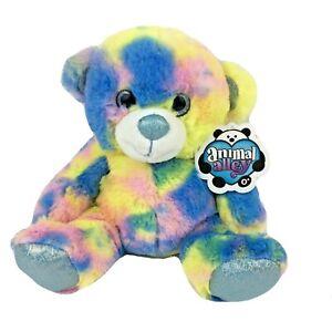 "Animal Alley Plush Bear Stuffed Animal Tie Dye 9"" Toys R Us Collectible NWT New"
