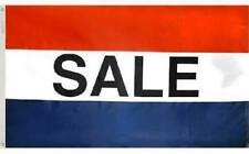 SALE  Red White Blue Retail Business Message Flag 3x5 ft Outdoor Print Nylon