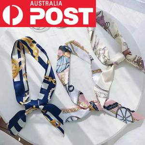 Women Twilly Silk Ribbon Scarf Wrap Tied Bag Handle Hair Tie 15 Prints New Stock