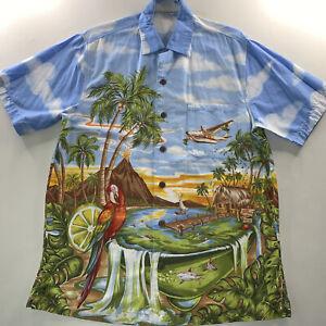 Men's Jimmy Buffet Margaritaville Hawaiian Shirt Size Medium Rare