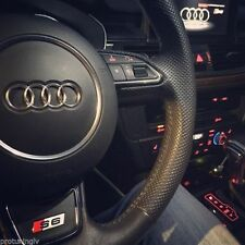 Audi A6 S6 4 G C7 2011-2018 Steering Wheel Badge Autocollant OE Logo Réglable S-Line S
