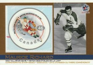 2003 Pacific Canada Post stamp card #3 Maurice Richard ERROR Gordie Howe Stamp