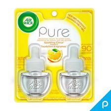 Air Wick Scented Oil Twin Refill, 0.67 oz each, Pure Sparkling Citrus 2 ea