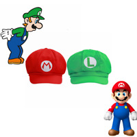 XCOSER Super Mario Bros Hat Baseball Cap Cosplay Luigi Snapback Cap Costume Prop