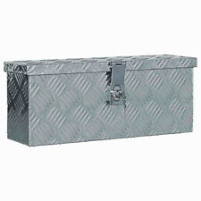 Aluminium Box Tool Organiser Trunk Chest Transport Boxes Trailer Storage Silver