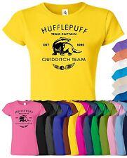 HARRY POTTER Hufflepuff Womens T-Shirt Hogwart Gift Present Top Tee T Shirt