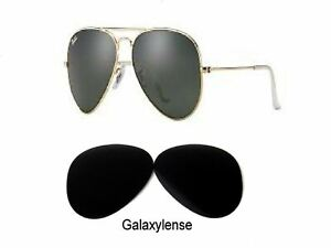 Galaxy Replacement Lens For Ray Ban RB3025 Aviator Black 58mm Polarized