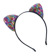 Colorful Girls Sequins Hairband Cat Ear Headband Women Children Party Gifts