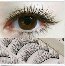 10 Pairs Natural Eye Lashes Makeup Handmade Thin Fake False Eyelashes