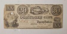 WPC ~ Ocumulgee Bank of Georgia Large $20 Notes November 10th 1837 #264