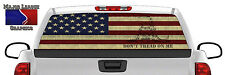 American Flag Don't Tread On Me Back Rear Window Graphic Perforated Decal Truck