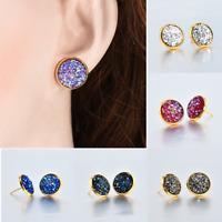 12mm Fashion Beauty Boho Jewelry False Druzy Stud Earrings For Women Size New H7