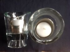 SET OF 2 - MOET CHANDON CHAMPAGNE GLASS CRYSTAL VOTIVE CANDLE HOLDERS
