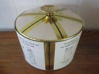 Vintage MCM Fabcraft Ice Bucket William Box Cartoon Insulated Metal Cork Barware