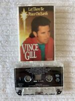 VINCE GILL LET THERE BE PEACE ON EARTH CASSETTE TAPE (TESTED WORKS AMAZING) D20
