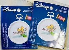 DISNEY TINKERBELL Cross Stitch Mini Kits(2)-Ornaments w/frames ~ NIP!