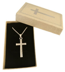 Beautiful First Holy Communion / Baptism / Confirmation Cross and Chain Gift Set