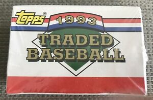 1993 Topps Traded Baseball Factory Sealed Complete Set with Rookie Cards