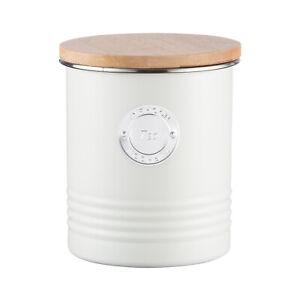 100% Genuine! TYPHOON Living Metal Tea Storage Canister Tin 1L Cream!