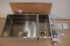 Franke PKX160 Peak Double Basin Undermount 16 Gauge Stainless Steel Kitchen Sink