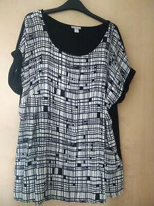 T Shirt Gr. 44 schwarz/weiß von Alba Moda NEU