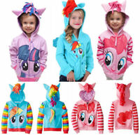 Kids Girls Hoodies My Little Pony Wing Sweater Sweatshirt Coat Zip Jacket 0-8Yrs