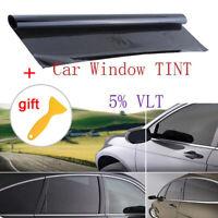 "VLT 5% Uncut Roll 39"" X 20 INCH Window Tint Film Charcoal Black Car Glass Office"
