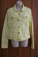 GARCIA JEANS YELLOW JEAN JACKET SIZE L XL EXTRA LARGE NEW