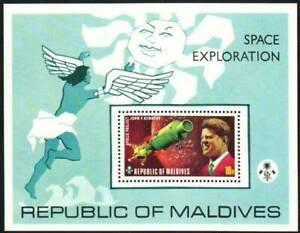 Maldives Stamp - Space Exploration w/Kennedy Stamp - NH