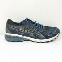 Asics Mens GT 2000 8 1011A690 Black Blue Running Shoes Lace Up Low Top Size 8.5