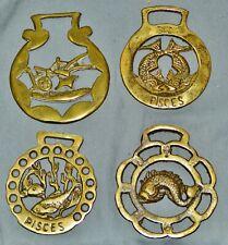 4 Horse Brasses, Original English, 8,5 CM
