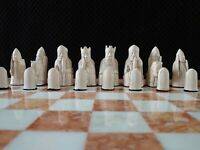 The isle of Lewis Chess Set chessmen game pieces fascinating -   medieval style