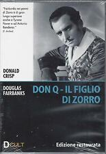 Dvd **DON Q IL FIGLIO DI ZORRO** Edizione Restaurata con Douglas Fairbanks 1925