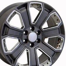 """22"""" 2014-15 GMC Denali Wheels Chevrolet Gray 22x9 Rims 5665 Silverado Escalade"""