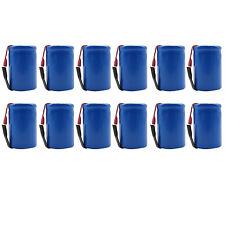 12PCS 4/5 Sub C 1600mAh 1.2V Ni-CD Rechargeable Battery Tabs Blue 22.2x34.32mm