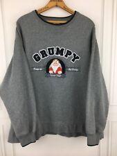 DISNEY Authentic Pump Up The Grump Crewneck Sweatshirt Grey Size XL EUC