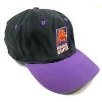 Vintage Phoenix Suns Black Purple Snapback Hat Truck Logo 7 NBA Curved Brim