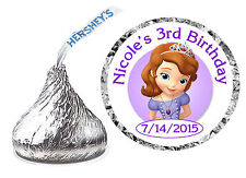 108 PRINCESS SOFIA THE FIRST BIRTHDAY PARTY FAVORS HERSHEY KISS KISSES LABELS