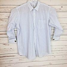 Paul Fredrick Men's Size 18.5-34 Shirt Striped  French Cuff   B279