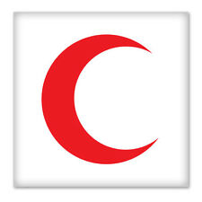 "RED CRESCENT Emblem car bumper sticker decal 4"" x 4"""