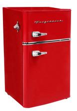New Red 3.2 Cu Ft Retro Mini Fridge 2 Door Freezer Refrigerator Dorm Office