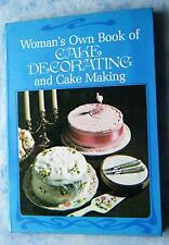 Womans Own Book of Cake Decorating and Cake Making Torten backen dekorieren 1977