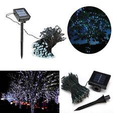 LAMPADINE LED ENERGIA LUCE SOLARE 100 LUCI DECORAZIONE GIARDINO BALCONI NATALE