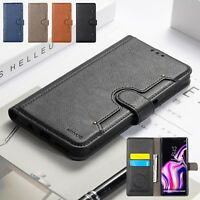For Samsung Galaxy S9 S8 Plus Magnetic Flip Leather Card Wallet Phone Case Cover